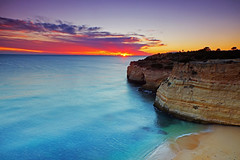 Paradise (Pedro d'Anjos) Tags: sunset beach sea ocean sand cliffs clouds seagulls seascape landscape color blue green red vacation holiday paradise playa mar pedro danjos