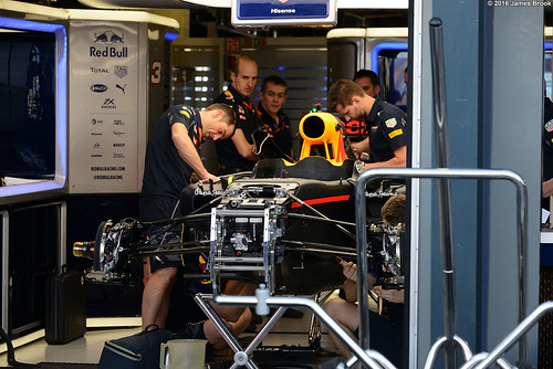 Red Bull Racing RB12 in the garage