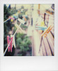 Daily perspective (ale2000) Tags: polaroid film impossible sx70 analog analogue multicoloured hangers clothespins pins perspective fugue suspended hanged hanging instant framed frame