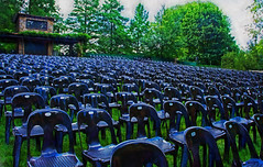 I must be early . . . (mp13 nhnc) Tags: theater outdoortheater longwoodgardens chairs seats emptyseats