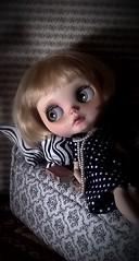 Toy-in-the-Frame-Thursday; and Blythe-a-Day August #11: Dark K/Night: Maisie