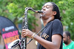 Airius Reeves and the Sixth Street Brass at Friday Night Live (forestforthetress) Tags: airiusreeves sixthstreetbrass fridaynightlive band music musician gig concert festival fun street color outdoor omot nikon champaign jazz instrument saxophone