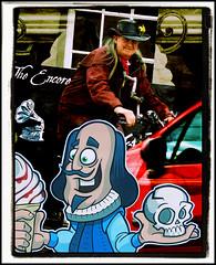 ALAS POOR YORICK ... I DIDN'T GET YOU ONE! (Poppy ♥ Cocqué ♫) Tags: shakespeare williamshakespeare yorick thespian theatre comical amusing soundtrack poem poetry prose ap appoppy poppy compilation art artwork melodramatic drama comedy katebush bicycle icecream raspberryripple cornet skull theatrical heathcliff cathy wutheringheights emilybronte alaspooryorick hamlet othello maynardjameskeenan theencore encore stratford stratforduponavon boat avon riveravon barge shakespeareicecreamboat narrowboat icecreamkiosk stratfordmarina gramophone sign signage bancroftgardens warwickshire man person actor cyclist car window 1bridgestreet restaurant collage cartoon