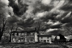 No place like... home (Alvin Harp) Tags: hauntedhouse blackandwhite bw monochrome april 2016 upstatenewyork darkclouds stormy abandonedhouse decay scary sonyilce7rm2 fe24240mm alvinharp