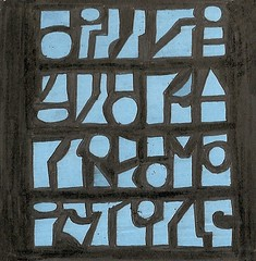 Cipher? (ElDel777) Tags: artist tile ink drawing art abstract cipher hieroglyphics lettering font streetart urban blackandblue