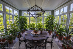 A Green Dining Room (Samantha Decker) Tags: canonef1635mmf28liiusm canoneos6d hdr highdynamicrange ny newyork samanthadecker saratogasprings showcaseofhomes uwa plants upstate wideangle unitedstates