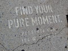 Find Your Pure Moment, New York, NY (Robby Virus) Tags: newyorkcity newyork nyc ny city bigapple manhattan fund your pure moment sidewalk pavement stencil paint ad advertisemenrt yoga 77th