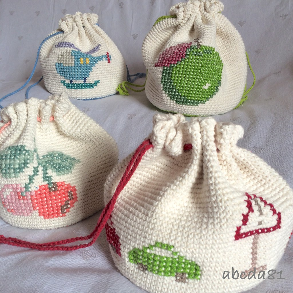 Crochet Bag For Kids : ) Tags: school baby bag children kid crossstitch handmade crochet ...