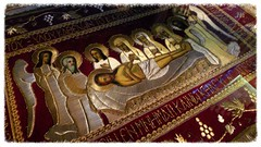 St. Sava Serbian Orthodox Cathedral 32 (milomingo) Tags: church parish wisconsin religious lowlight midwest cathedral milwaukee cloth ornate orthodox iconography tapestry brocade serbian stsava iconographic serbiandaysfestival2014 serbhallfestival2014
