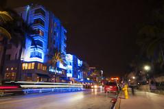 (Therese stberg) Tags: ocean light usa art beach night drive hotel nikon miami sigma nightshots 1020mm deco natt hotell nikond300s floridaferie
