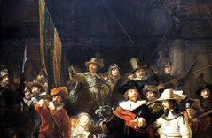 Rembrandt, The Night Watch, detail with figures