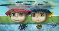 We were nearly flooded Ponyo (Shmoonify) Tags: digital paintover ponyo