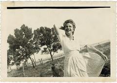 Happiness (sctatepdx) Tags: snapshot vernacular vintageskirt vintagewoman oldsnapshot vintagesnapshot