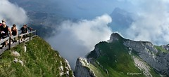 (welenna) Tags: summer panorama mountain mountains fog clouds landscape schweiz switzerland nebel view berge  schwitzerland