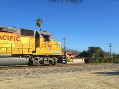 1374 (vcrailfan1999) Tags: up train trains unionpacific camarillo railfan freighttrain uprr railfanning gp402 gp40 1374 localfreight unionpacificgp40 santabarbarasub up1374