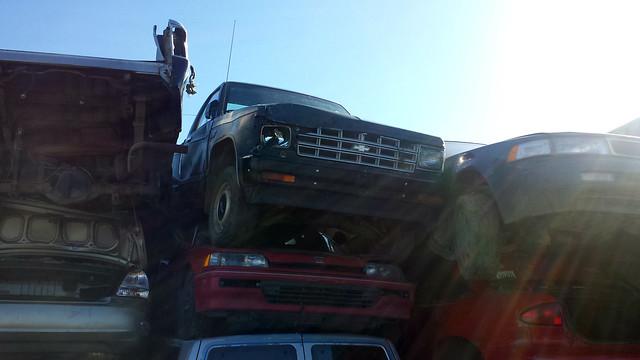 chevrolet truck junkyard scrapyard s10