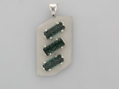 Green tourmalines set in Sterling Silver