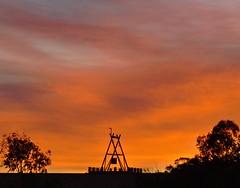 Big Winch (Damien Bachmann) Tags: sky sunrise big australia outback winch cooberpedy coober pedy