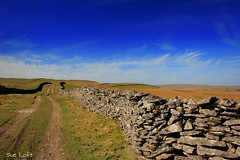 Yorkshire Dales (Sue Loft) Tags: sky green stone landscape countryside spring path yorkshire lane walls yorkshiredales