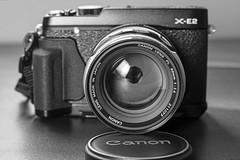 Canon FL 50mm 1.4 on a Fuji X-E2 (vtom61) Tags: handgrip aimicronikkor55mmf35 canonfl50mm14 nikond800e fujixe2 mhgxe