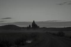 aamunkoitto (Slavato) Tags: morning house fog night suomi finland countryside