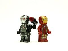 lego marvel_war machine mk3 & iron man mk46 (Gubi0222) Tags: lego ironman civilwar marvel warmachine minifigures