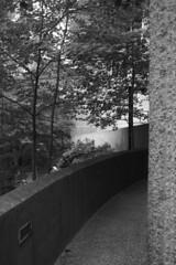 DSC03700 (sesquiotic) Tags: toronto monochrome architecture blackwhite brutalism ontariosciencecentre canonfd28mmf28