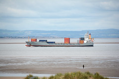 Maike D (Peter Owen) Tags: crosby blundellsands beach maiked container ship