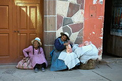 Bread Vendors in Sacred Valley (cheryl strahl) Tags: peru sacredvalleyoftheincas vendors bread selling loaves