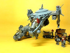 Take Off (icycruel) Tags: lego moc gunship military vehicle scifi