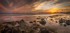 La Mare, Jersey, UK. (Tim_Horsfall) Tags: sunset beach jersey uk coast rocks sand seaweed ocean seascape dusk evening canon eos 6d ef1635mm f4l is usm cloud colours landscape