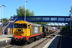 20132 20905 lead 7x23 derby litchurch lane to old dalby at melton mowbray with s stock unit 21385 and 21386 with 20107 and 20314 tailing (Iain Wright Photography) Tags: 20132 20905 lead 7x23 derby litchurch lane old dalby melton mowbray with s stock unit 21385 21386 20107 20314 tailing gbrf hnrc chopper moose class20