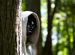 Behind the Mask (jeeeennnnnn) Tags: nikon nikond3200 50mm bokeh mask scary creepy woods forest nature canada ontario cottagecountry