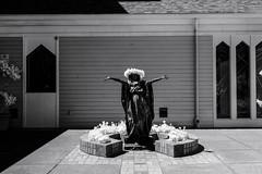 Aloha (sidelinesjr) Tags: statue virginmary catholicchurch albanyoregon infrared