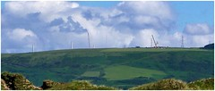 Things to come. (brian.batters (B-C-B)) Tags: windturbine kenfig kenfigburrows margammountain kenfigriver