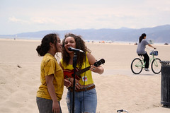 LA Adventures (Samicorn) Tags: nikon california losangeles santamonica venicebeach beach sand girls singers ukulele bicycle mic microphone