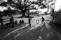 (Kals Pics) Tags: kids boys play fun happiness indianvillages ruralpeople villagelife ruralindia villagepeople rurallife lightandlife lightandshadow playtime funtime children childhood blackandwhite colorless monochrome blackwhite kurinjipadi cuddalore tamilnadu india banyan peepal tree incredibleindia tyre pov perspective silhouette life people kalspics