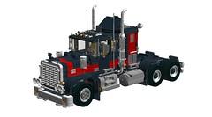 LEGO 'Legacy' Black Cat Truck (RS 1990) Tags: lego modelteam 5571 legacy blackcat gianttruck truck semi 20thanniversary edition ldd digitaldesigner