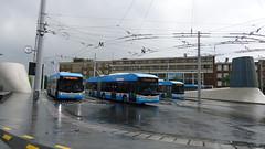 Arnhem, Trolleybuses (Mado46) Tags: bxl06 mado46 netherlands nederland niederlande gelderland cycletour radtour fietstocht arnhem arnheim mainstation station hauptbahnhof bahnhof cs centraalstation obus trolley bus oberleitungsbus 333v3f