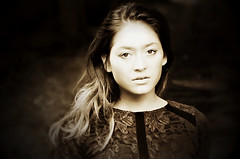 Asian Beauty (sophie_merlo) Tags: bw mono monochrome blackandwhite noir dark zwartwit portrait headshot sepia beauty chinese asian woman girl model asianwoman oriental people brunette