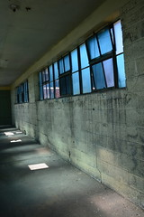 'Dixie Cup Factory' (miranda.valenti12) Tags: dixie cup factory window windows light sunlight opening reflection shadows shadow wall ceiling hallway darkness dark door ground building old decaying decay