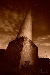 ... The round tower ... (Device66) Tags: nocturnas night tower round sepia tone hardlyseen bricks nikon device