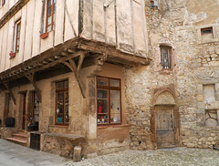Lagrasse (Niall Corbet) Tags: france languedoc roussillon aude lagrasse medieval house stone halftimbered