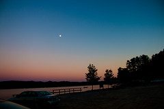 Good Night (SueZinVT) Tags: night twilight lakebomoseen boat silhouettes dock deck water sky