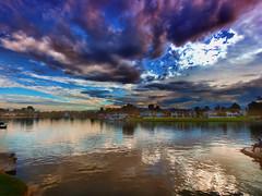 Pastel Skies (/\ltus) Tags: olympus socal irvine california southerncalifornia skies lake nothdr oc orangecountry