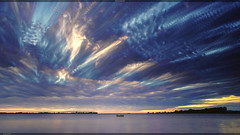 Paranormal Sky (Markus Diekmann) Tags: timestack sonya7ii ostsee salzhaff sal1635f4z sky sea boat