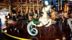 Carrousel Seahorse (Flickr Goot) Tags: october 2016 samsung galaxy s6 mansfield ohio richland county carrousel carousel