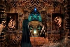 The Egg Of The Simurgh (Daniel Arrhakis) Tags: krudhyn thekingdomofkrudhyn darksurrealism mysticsurrealism theeggofthesimurgh mystic mystery gothicsurrealism
