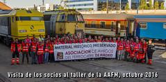 Visita de los socios (Asociacin de Amigos del Ferrocarril de Madrid AA) Tags: aafm aafmadrid trenes historicos ffe renfe adif museo ferrocarril fuencarral gata 269 333 locomotora madrid tren