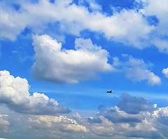 Flying high (Kaniz Khan 2009) Tags: cloud sky clouds plane jet fighter bluesky